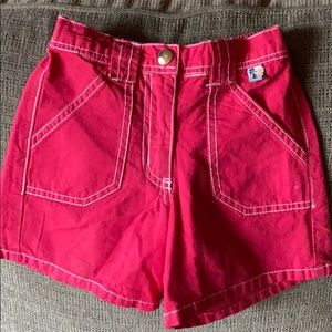 Charlie rocket sz 4 red shorts made in USA